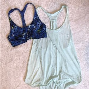 Lululemon top with detachable bra included